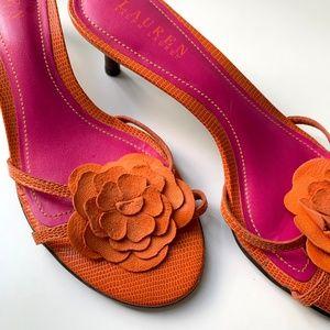 Lauren Ralph Lauren Floral Jasmin Sandals Size 8